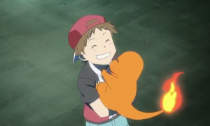 The loveable Charmander features heavily