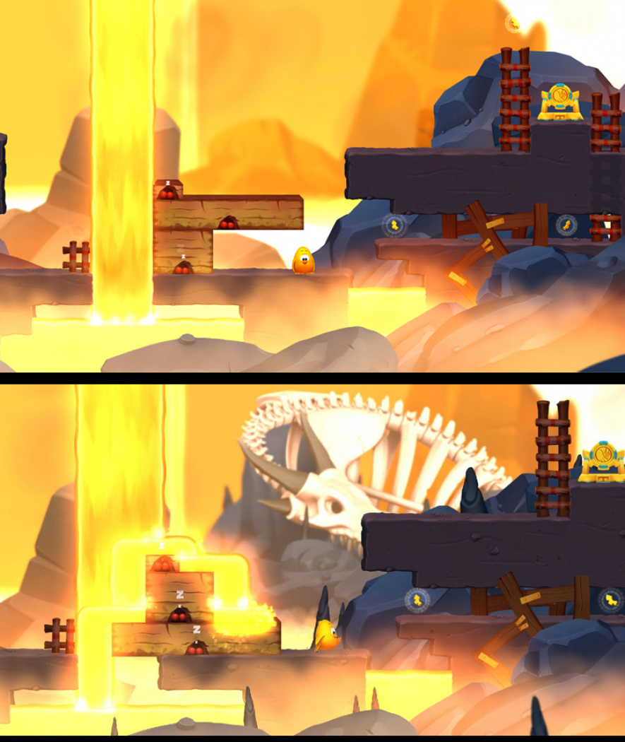 Toki Tori 2 Before and After