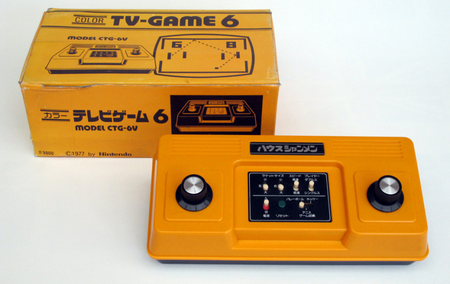 Nintendo's first games console, the TV Game 6, was released in 1977
