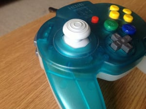 The joystick may look a little on the large side, but it's superb for 3D platformers