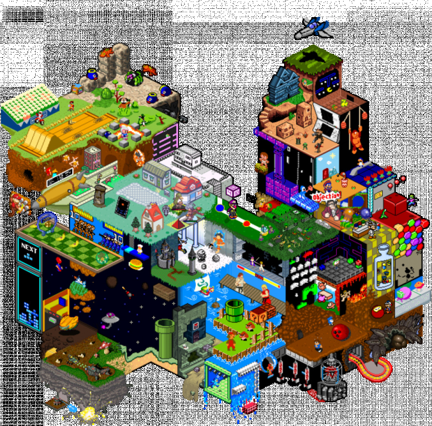Artwork these isometric super mario drawings are rather - Monstre de mario ...