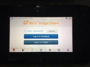 Sharing Wii U images is now possible
