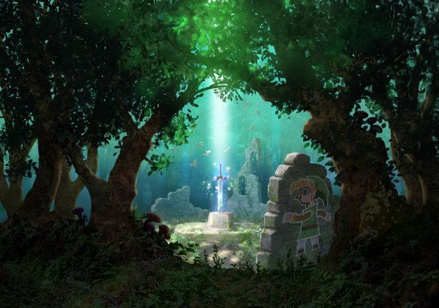 A Link Between Worlds Master Sword Art
