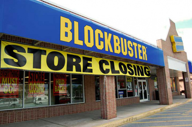 Blockbuster Storefront Closing
