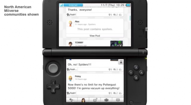 Miiverse! On 3DS!