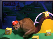 This Cat Fails to Get Into the Super Mario 3D World Spirit