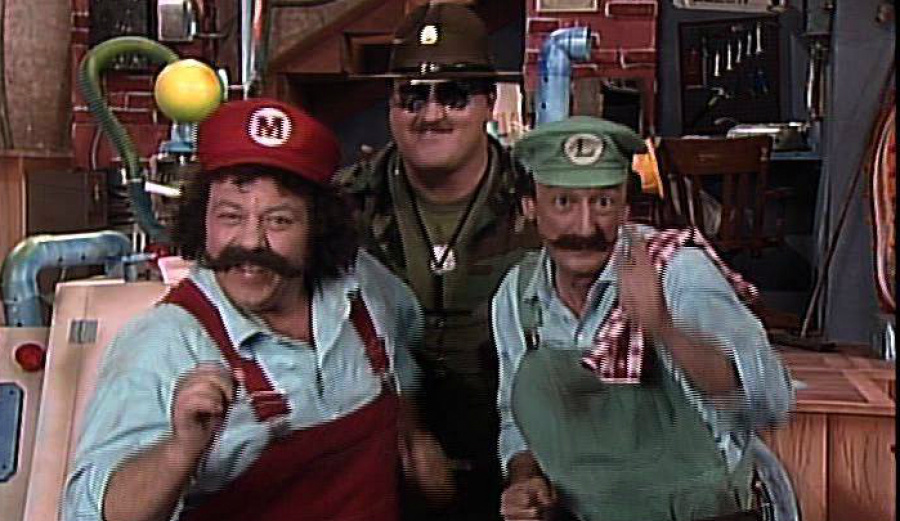 The brothers with Sargent Slaughter