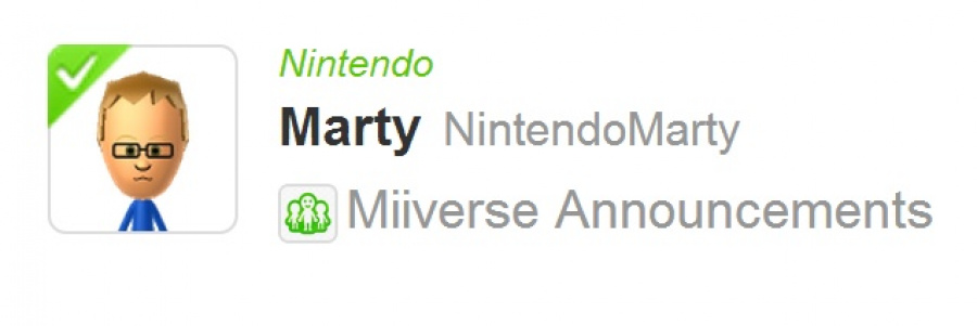 Marty Miiverse Annoucements