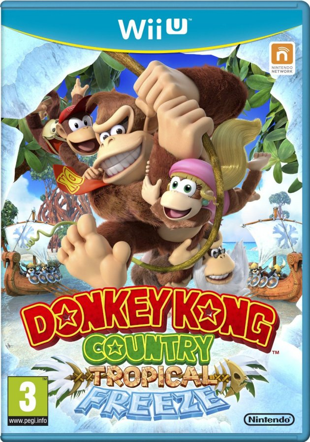 The rumoured new box art, featuring Cranky Kong