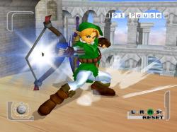 Link shows off some Kyudo archery