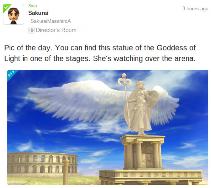 Palutena Statue Miiverse