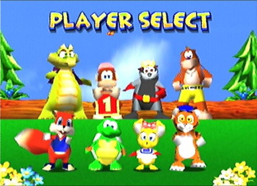 Diddy Kong Racing Character Select