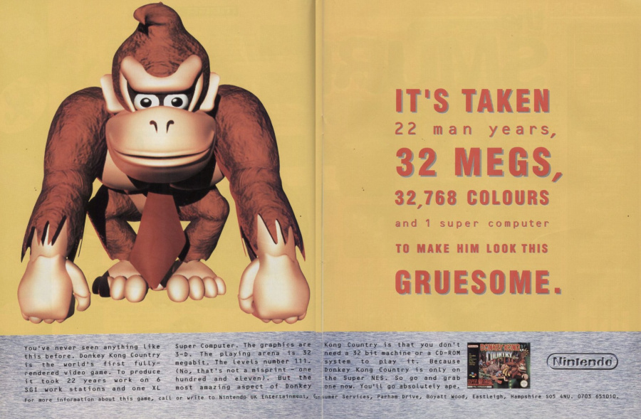 This UK advert for Donkey Kong Country highlights the epic development period
