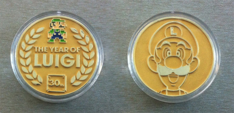 The Prize: A Limited Edition Year of Luigi coin from E3 2013