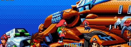 Clockwise from top left: Makaimura for WonderSwan, Guilty Gear Petit 2, Pocket Fighter, Mr. Driller, Kaze no Klonoa, Golden Axe