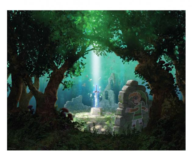 Zelda Albw Posters Big 2A Link Between Worlds Poster