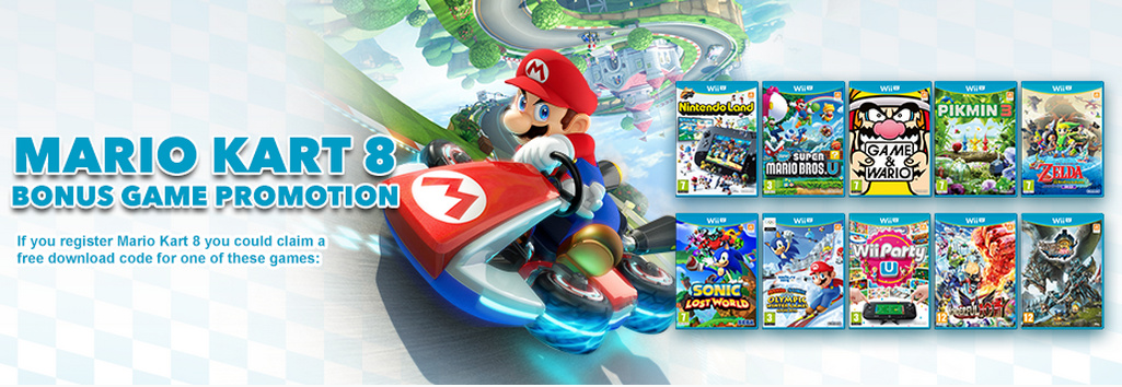 Mario Kart 8 Club Nintendo Promotion Offers a Free Wii U