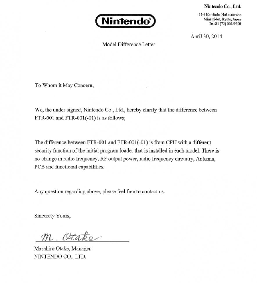 Myce Nintendo Fcc