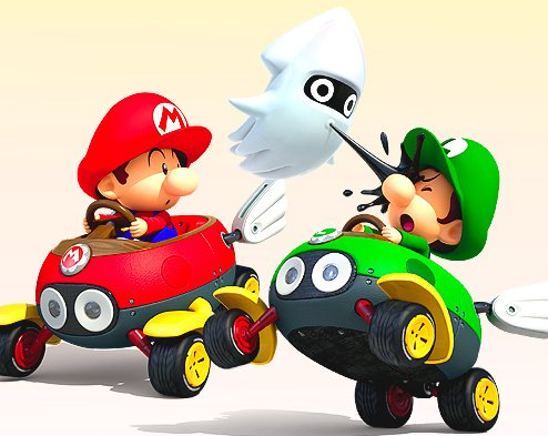 Mario Kart Double Dash - Baby Mario & Baby Luigi ...  |Baby Mario And Baby Luigi Mario Kart Double Dash