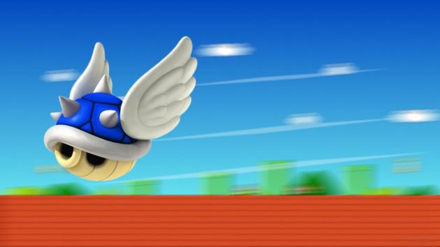 Blue Mario Shell Shells Spiny Kart 1366 X768 74501