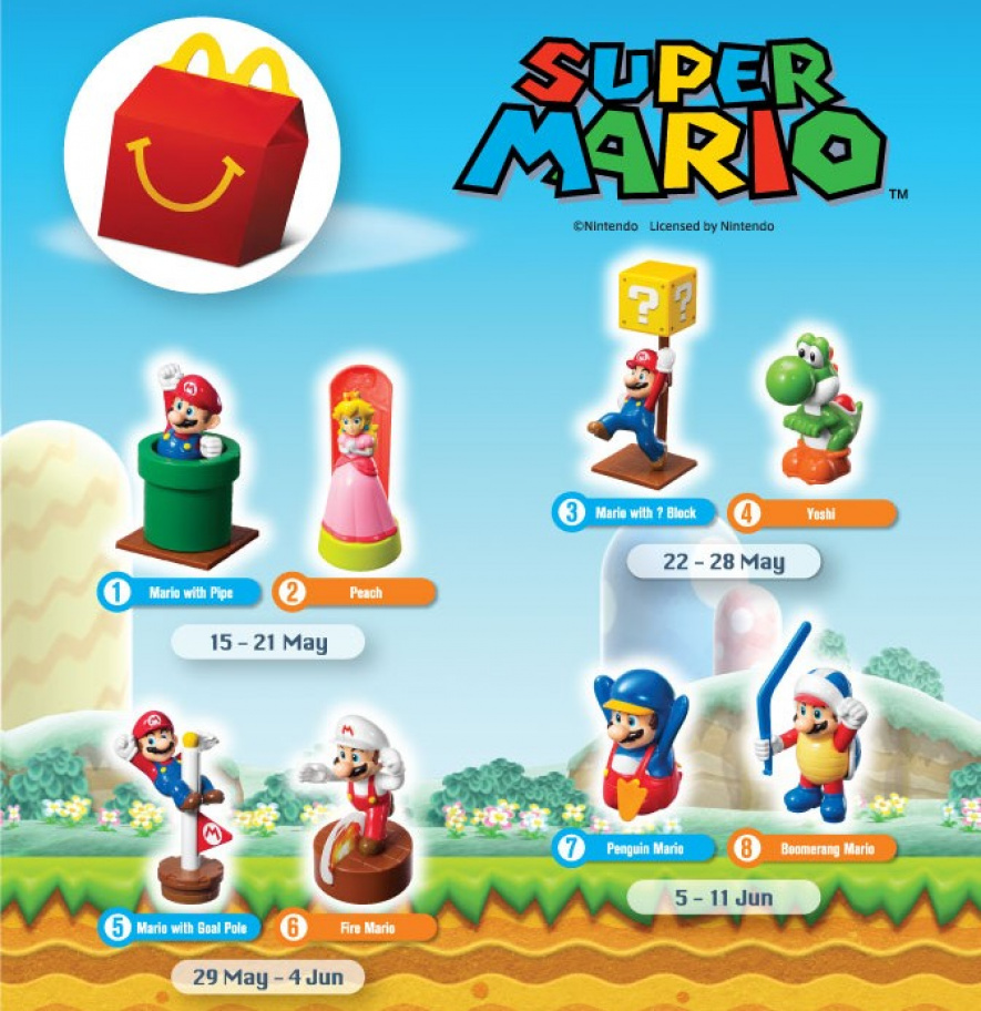 Mario Happy Meal Toys