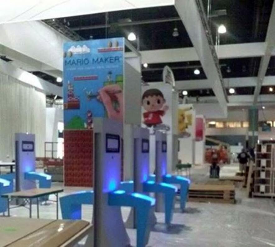 Nintendo E3 Showfloor 2014 - Mario Maker