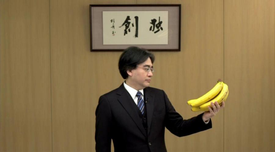 Satoru Iwata Banana1