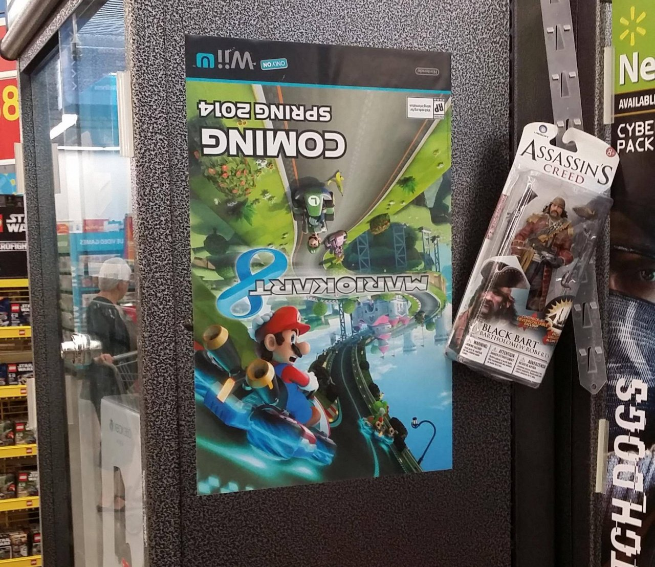 Weirdness: This Walmart Employee Got a Little Confused by a Mario Kart 8 Poster