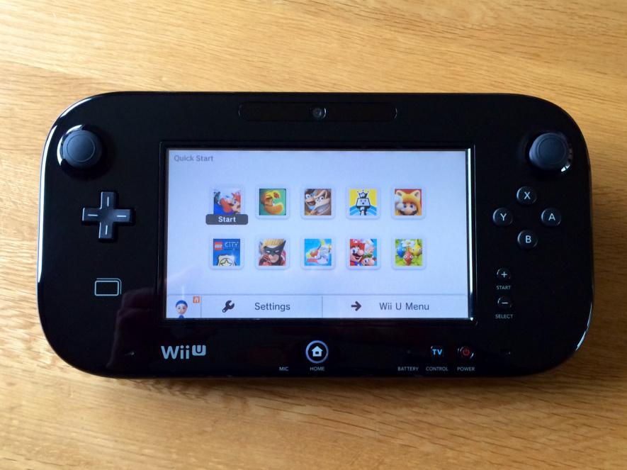 Wii U Quick Start menu