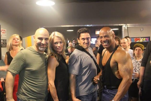 Richard Divizio (Kano), Kerri Ann Hoskins Branson (Sonya Blade), Sal Divita (Nightwolf, Sektor, Cyrax), John Parrish (Jax)