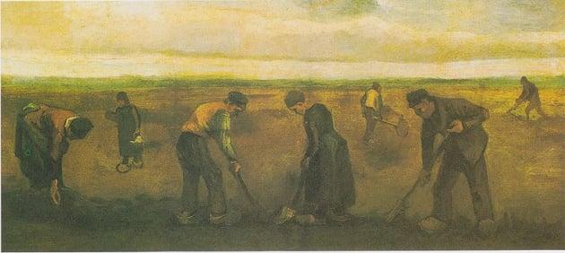 Van Gogh's 'Farmers Planting Potatoes'