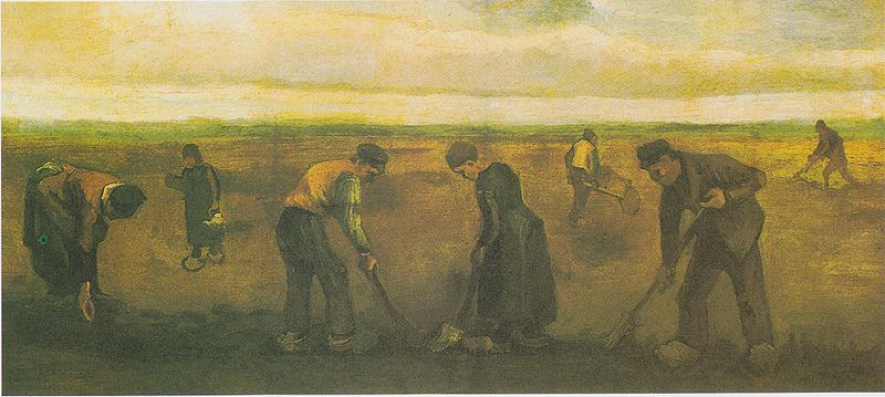 Van Gogh's 'Farmers Planting Potatoes'