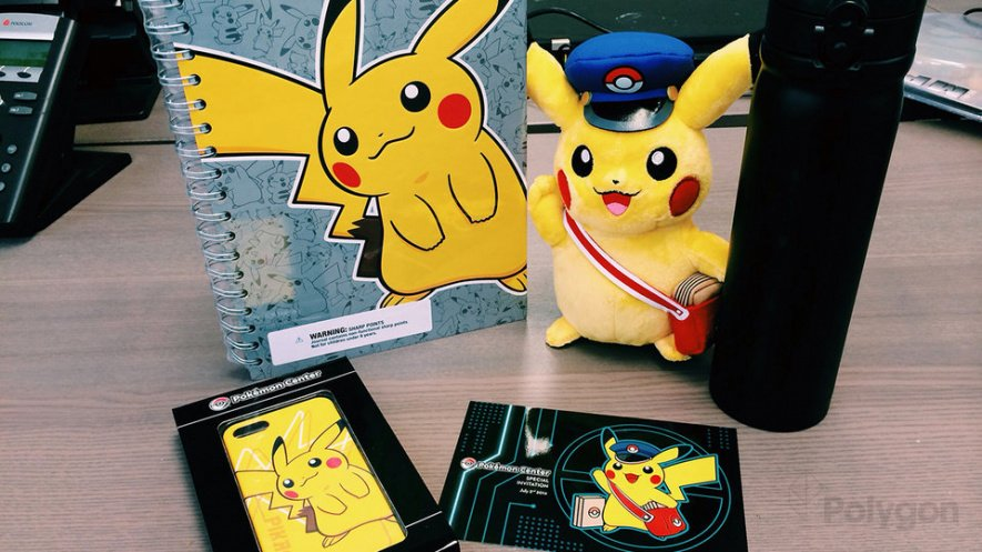Pokemon Center Goodies Sent to Certain Outlets