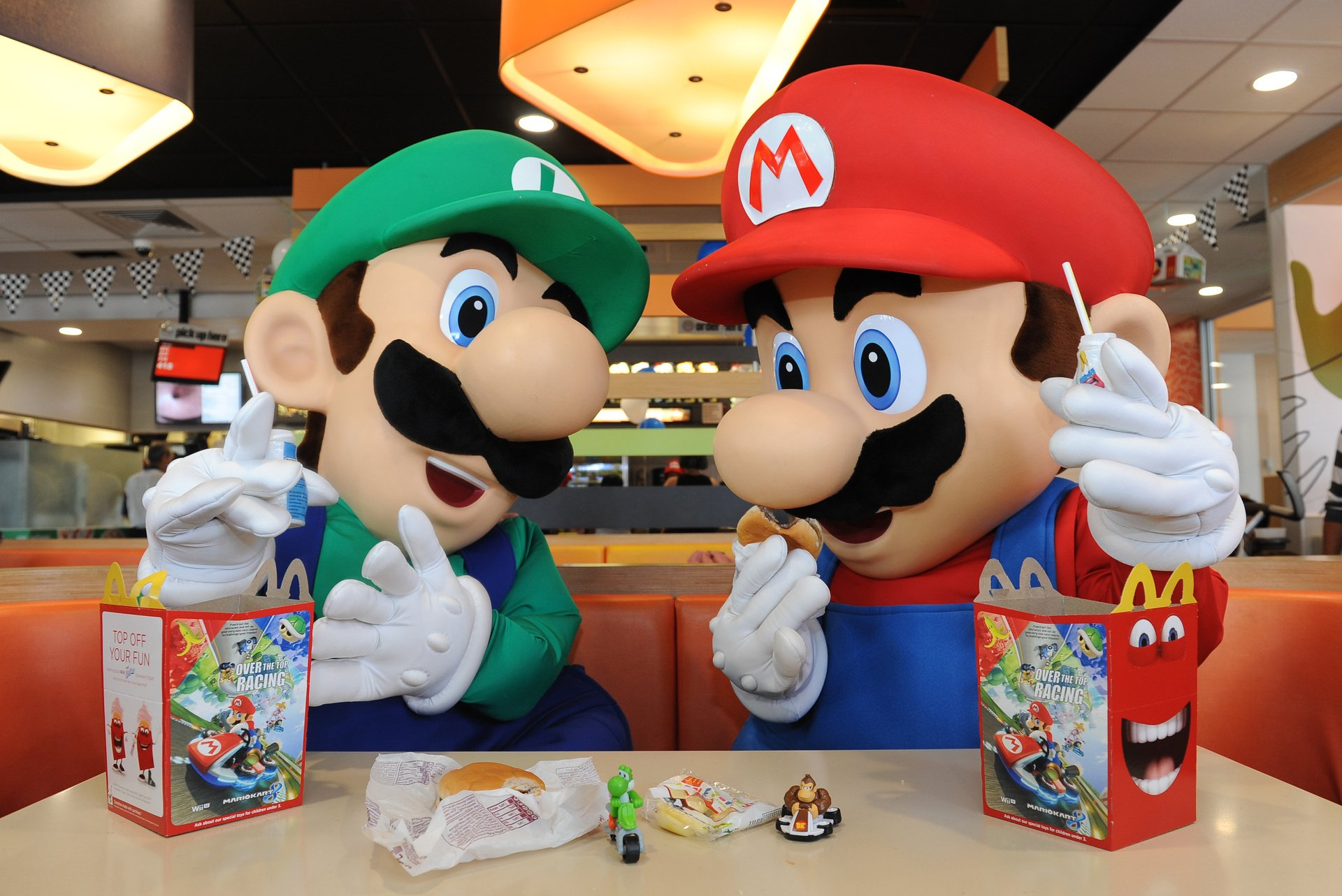 These Lucky Kids Got McDonalds Happy Meal Mario Kart Toys