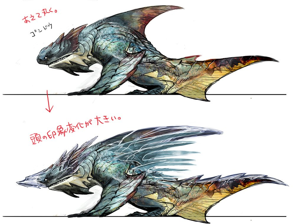 Capcom outlines monster hunter 4 ultimate shark creature 39 s for Www moster