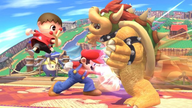 Smash Bros Wii U Mario vs Bowser