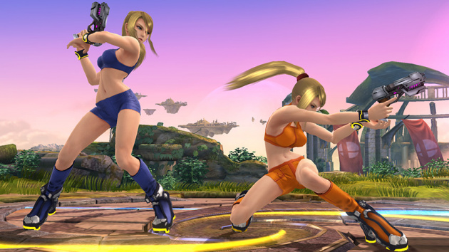 Zero Suit Samus' alternate costumes in Super Smash Bros. for Wii U