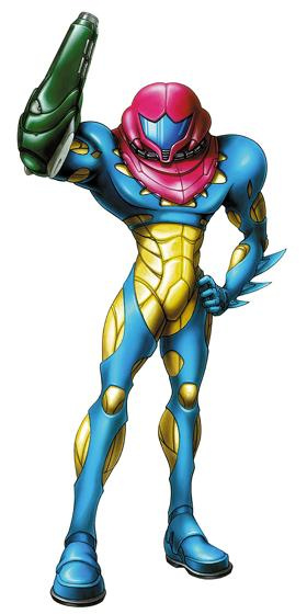 Samus' form-fitting Fusion Suit in Metroid Fusion