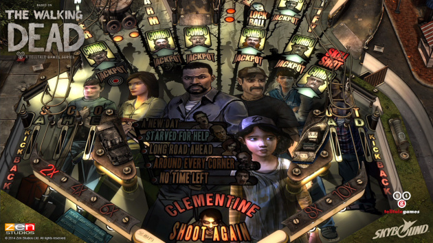 The Walking Dead Pinball Playfield Art