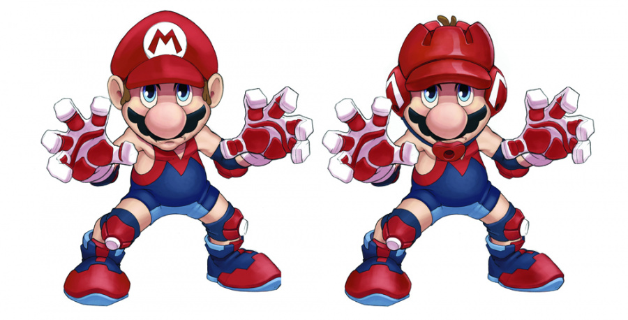 Two of Mario's proposed costume designs