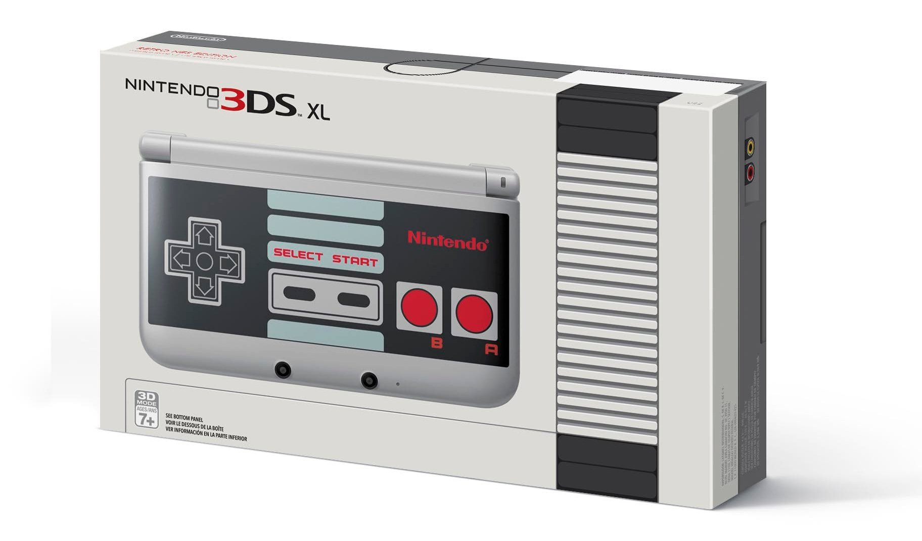 nes themed nintendo 3ds xl on the way as gamestop. Black Bedroom Furniture Sets. Home Design Ideas