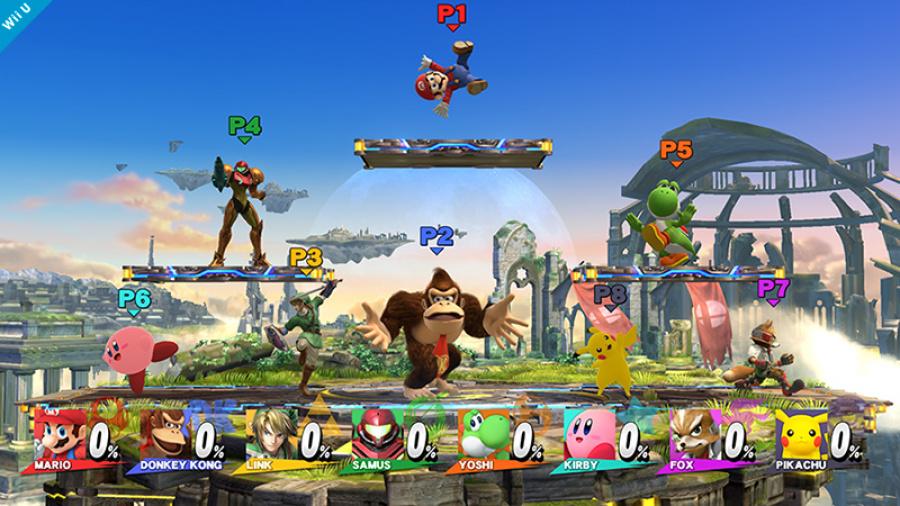 Super Smash Bros Wii U- 8 Players Battlefield