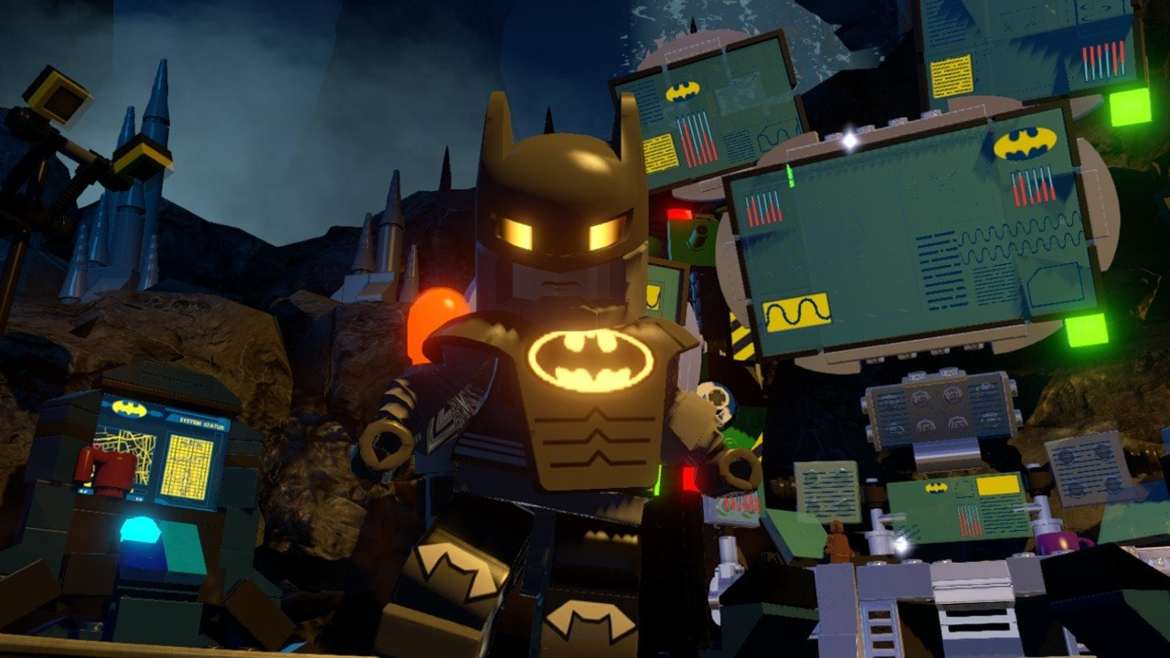 feature a look at the many bat suits in lego batman 3. Black Bedroom Furniture Sets. Home Design Ideas