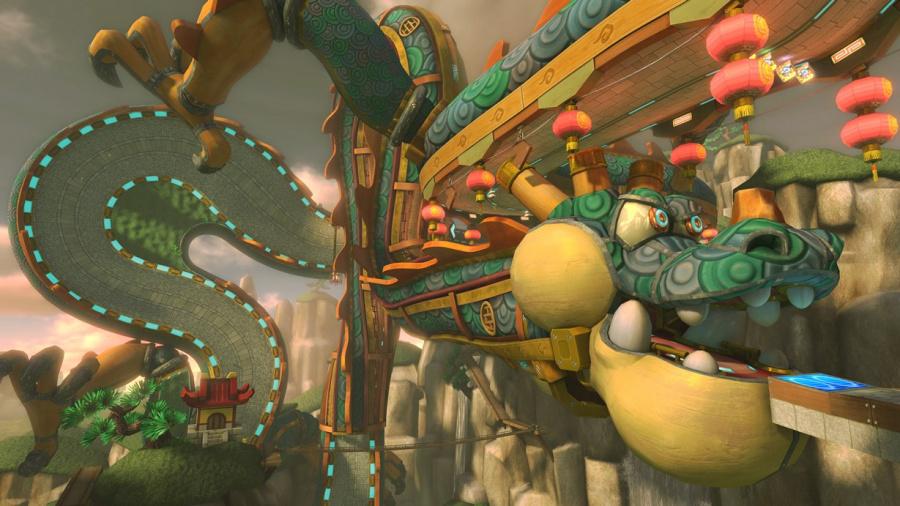 Wii U MK8 Dragon Driftway A