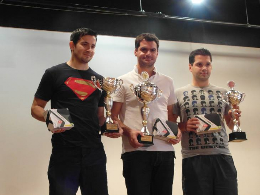 From left to right: Sami Cetin (2nd), Florent Lecoanet (1st), Julien Holmiere (3rd)