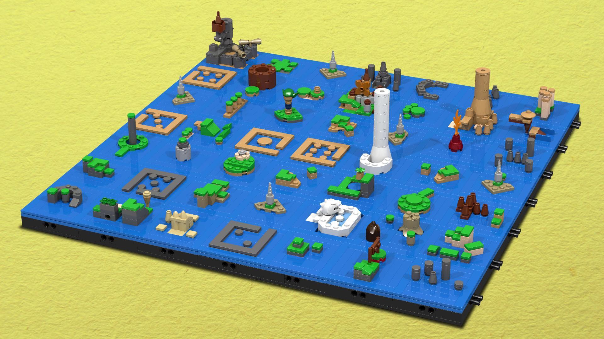 Weirdness Fan Creates Wind Waker Overworld From Lego Nintendo Life