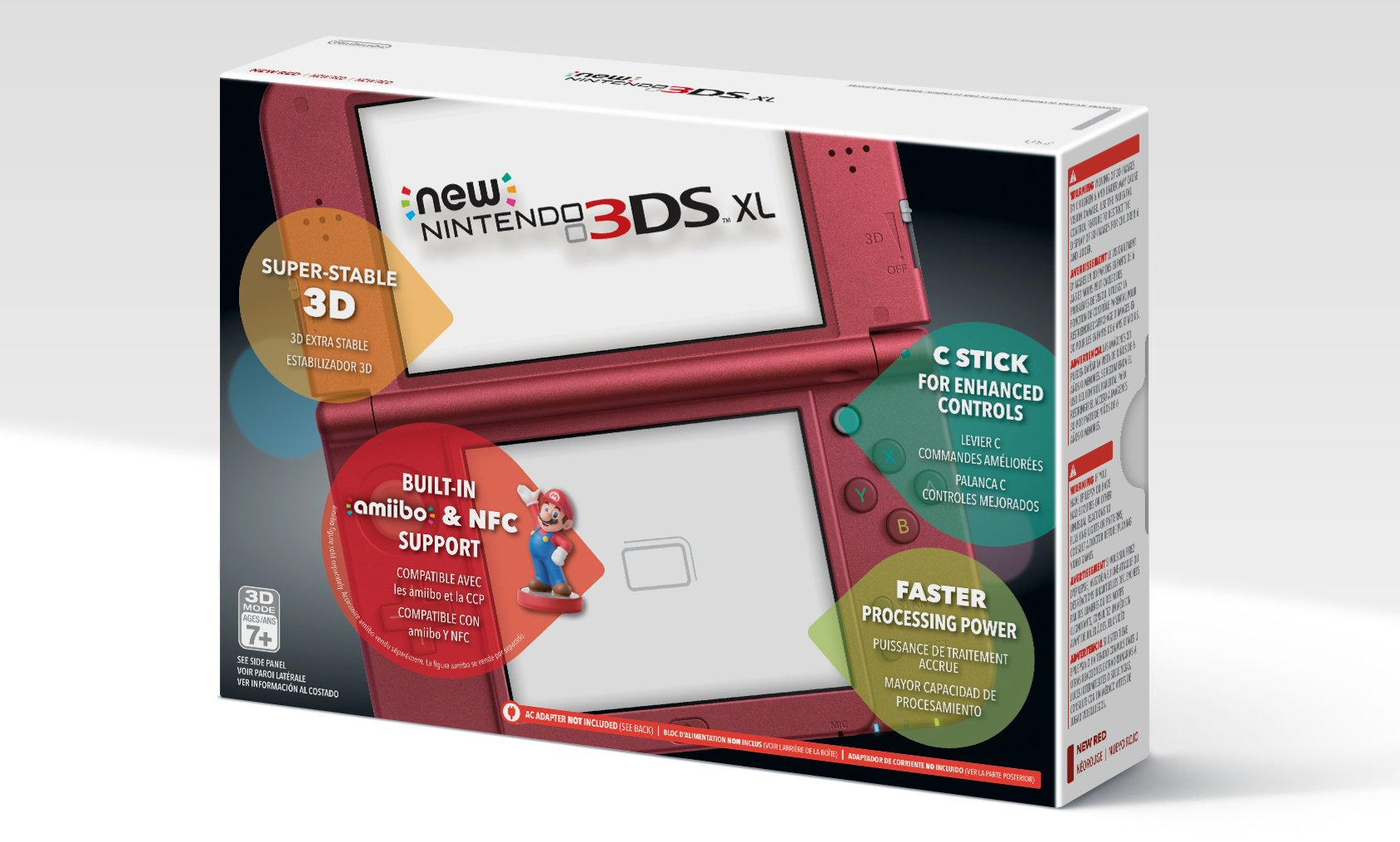the new 2015 nintendo 3ds xl red handheld console system. Black Bedroom Furniture Sets. Home Design Ideas