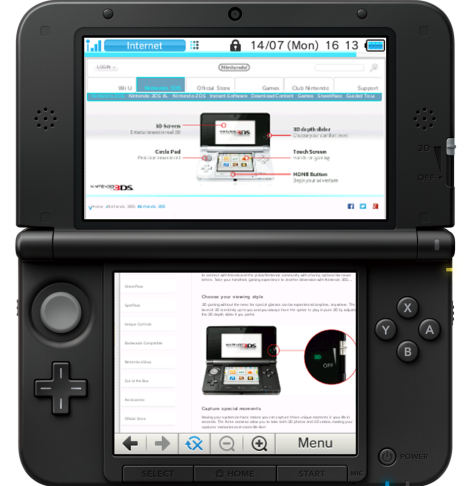3 DS Web Browser