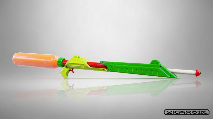 flash paper gun