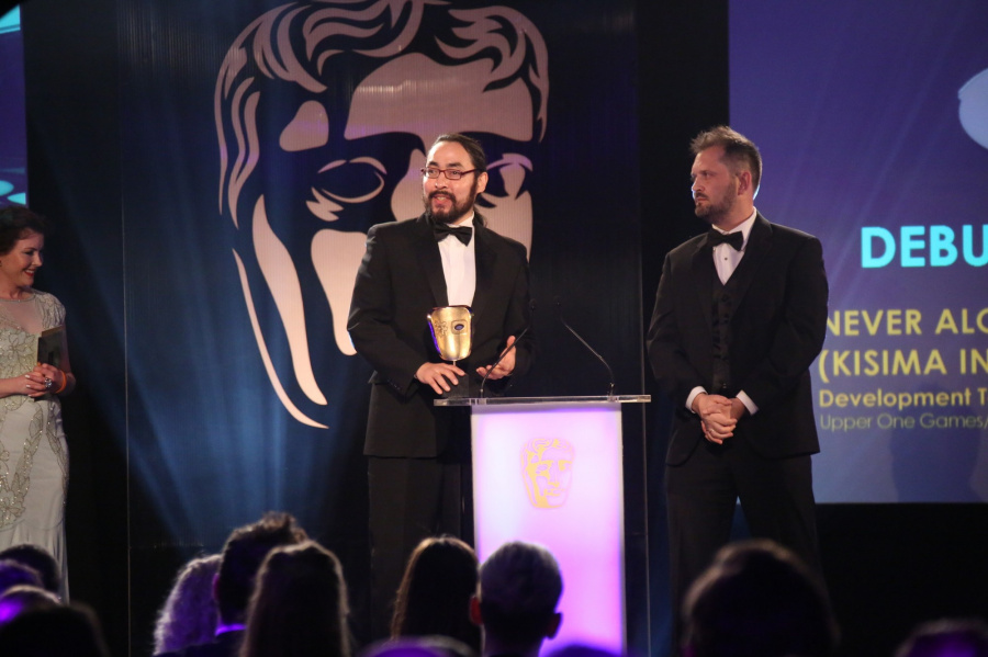 Never Alone won the Debut award (image credit: BAFTA)